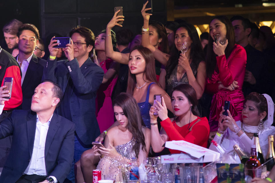 Guests at Zouk watching the 2019 Miss Universe Singapore pageant.