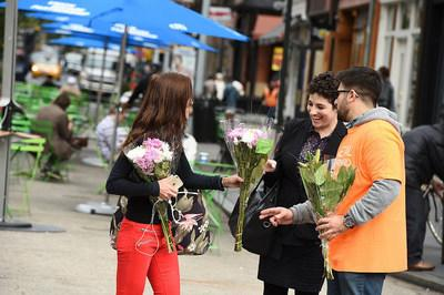 'Petal It Forward' brings smiles to people in downtown Billings
