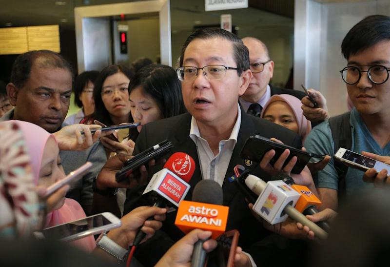 Finance Minister Lim Guan Eng speaks to reporters after attending a briefing session on SST in Ipoh September 1, 2018. ― Picture by Marcus Pheong