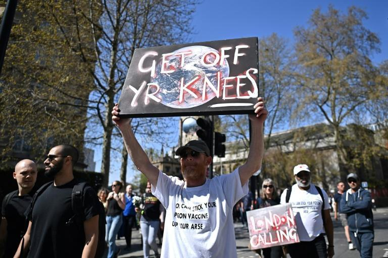 Demonstrators had gathered in early afternoon and marched along several major arteries, including the main shopping district Oxford Street, with videos and photos showing thousands in attendance