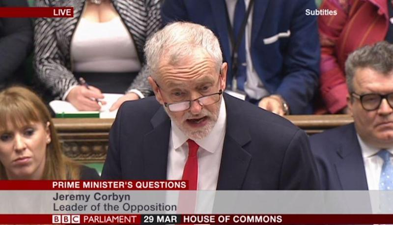 Jeremy Corbyn also said that the UK would have to give up its membership of the single market: BBC Parliament/Screengrab