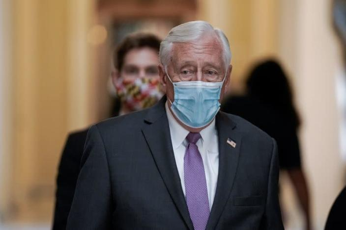 United States House Majority Leader Steny Hoyer (D-MD) leaves after voting on Capitol Hill, in Washington