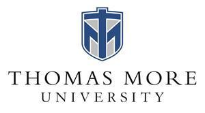 Thomas More University official logo - Founded in 1921, Thomas More University is private Catholic institution located in Crestview Hills, Kentucky.  As an ever-growing liberal arts institution, the University hosts more than 2,000 students annually, with a 14:1 student-teacher ratio, and forty-two undergraduate academic majors and three graduate programs.  #ThomasMore #ThomasMore100 #SaintsServe