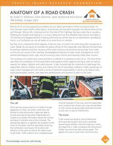 See link in press release to download CCDD Anatomy of a Road Crash
