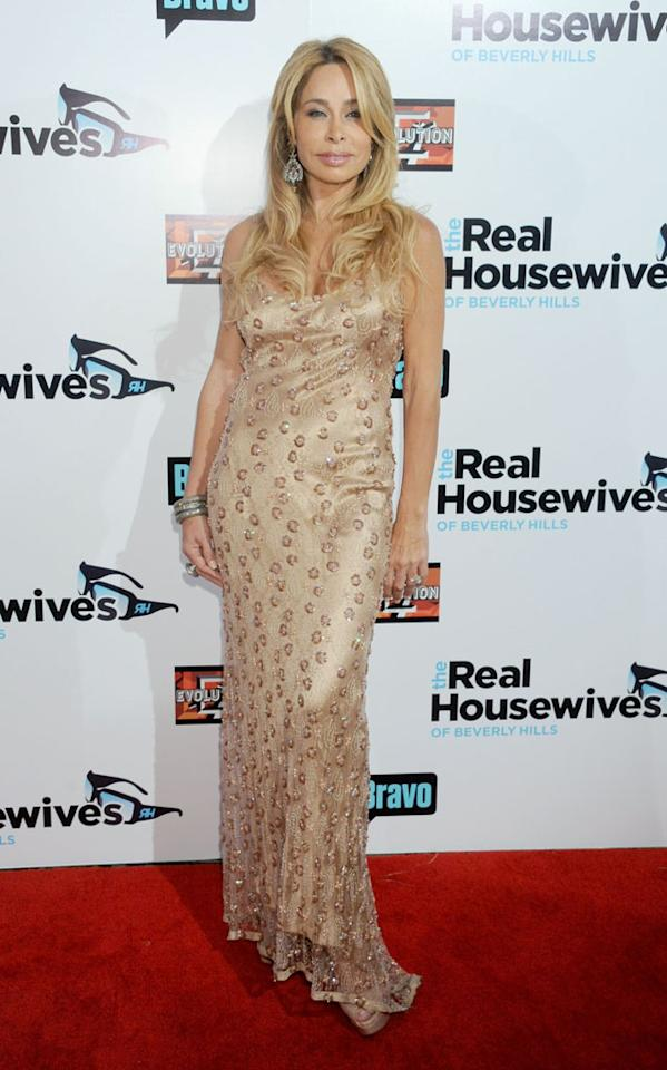 """Faye Resnick arrives at """"The Real Housewives Of Beverly Hills"""" Season 3 premiere party at the Hollywood Roosevelt Hotel on October 21, 2012 in Hollywood, California."""