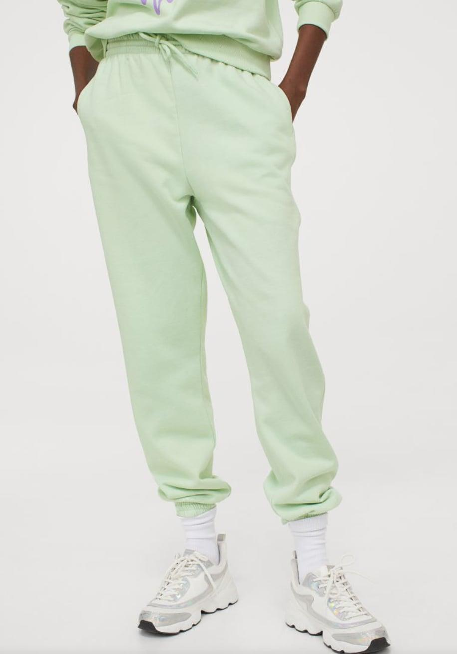 <p>Add a pop of color to your loungewear with these <span>High-Waist Joggers </span> ($25).</p>