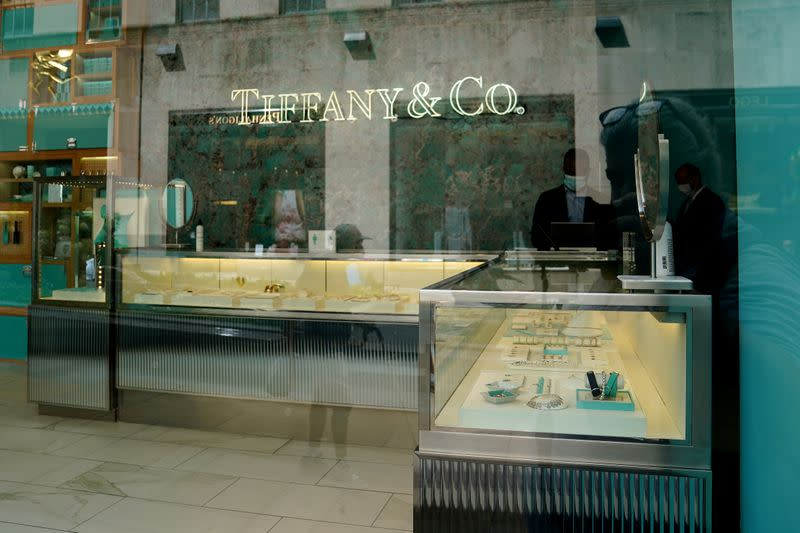FILE PHOTO: A Tiffany & Co store is pictured in the Manhattan borough of New York City
