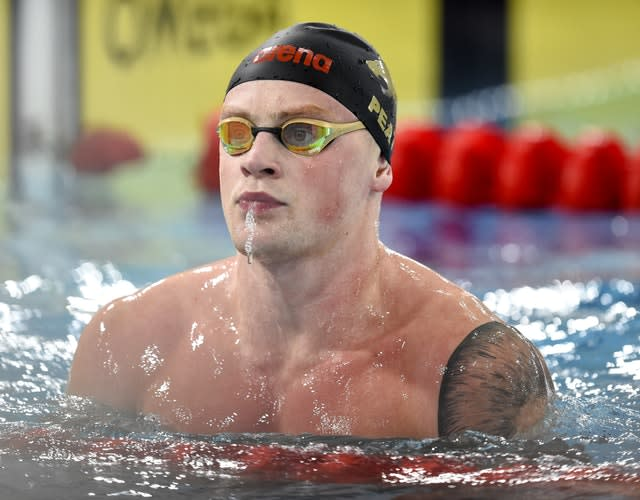 Adam Peaty will switch his focus to becoming stronger for 2021 (Ian Rutherford/PA)