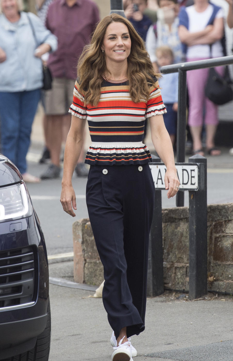 The duchess previously wore a top from the French brand to last summer's King's Cup regatta (Getty Images)