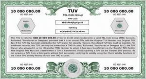 Examples of Tel.mobi Group's TUVs in relation to a variety of currencies - CHF, EUR, GBP and USD'