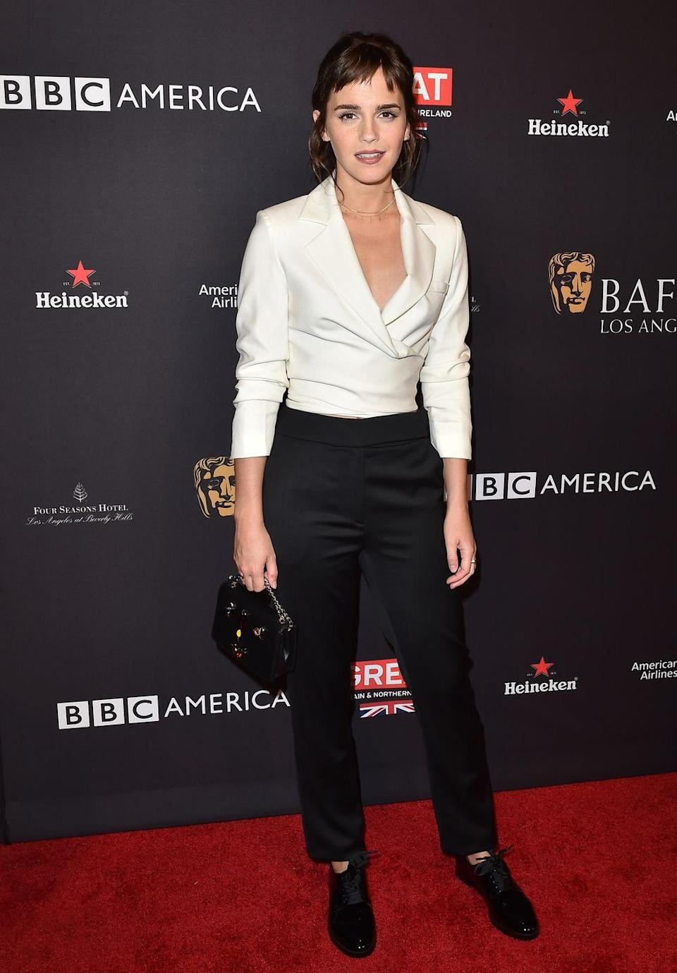 <p>The <em>Harry Potter </em>actress graduated from Brown University in 2014, where she received a degree in English literature. </p>