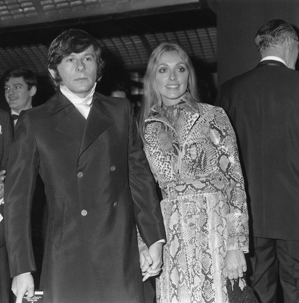 <p>Director Roman Polanski and his wife, actress Sharon Tate, arrive at the premiere of his film <em>Rosemary's Baby</em> in 1969. </p>