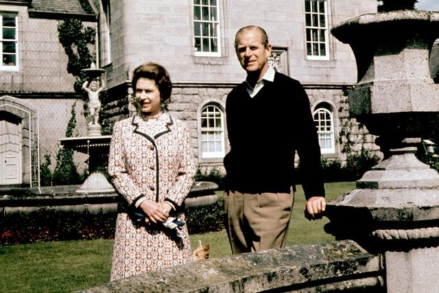The Queen and the Duke of Edinburgh at Balmoral in 1972