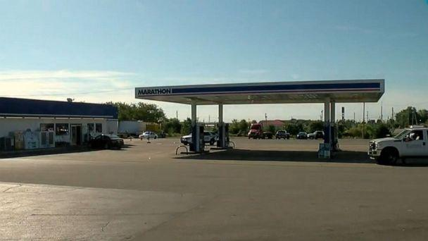 PHOTO: A suspect shot and killed a delivery driver at this gas station in Seaman, Ohio, Sept. 27, 2019, according to police. (WCPO)