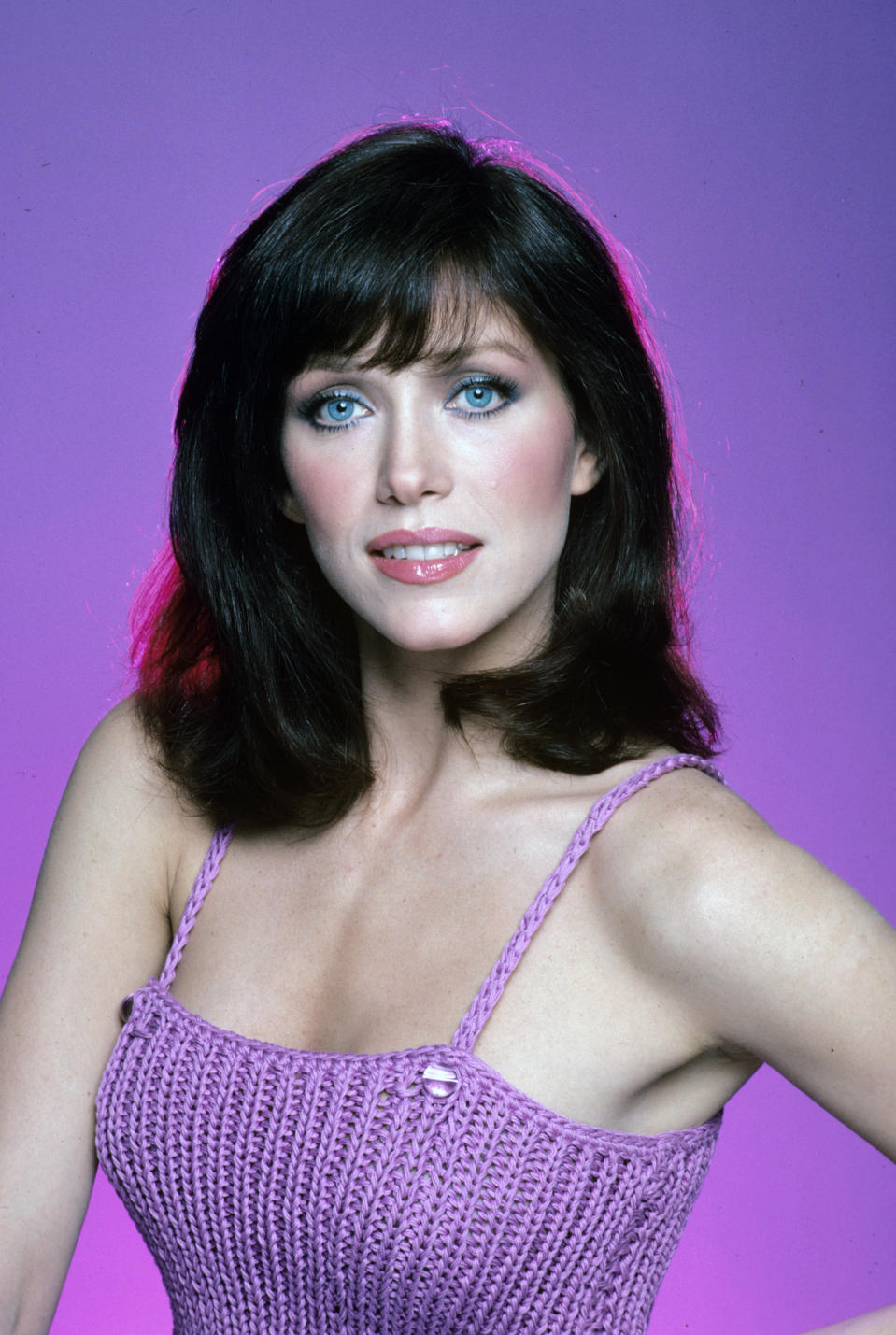 "UNITED STATES - NOVEMBER 30:  CHARLIE'S ANGELS - Tanya Roberts gallery - Season 5 - 11/30/80 The fifth and final season of ""Charlie's Angels"" began with a new Angel (Tanya Roberts as Julie Rogers) joining the Townsend Detective Agency. Roberts made her first appearance in ""Angel in Hiding"".  (Photo by Walt Disney Television via Getty Images Photo Archives/Walt Disney Television via Getty Images)"