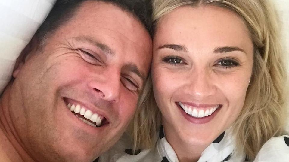 Karl Stefanovic jokingly threw wife Jasmine Yarbrough under the bus on The Today Show on Friday. Photo: Instagram/Jasmine Yarbrough