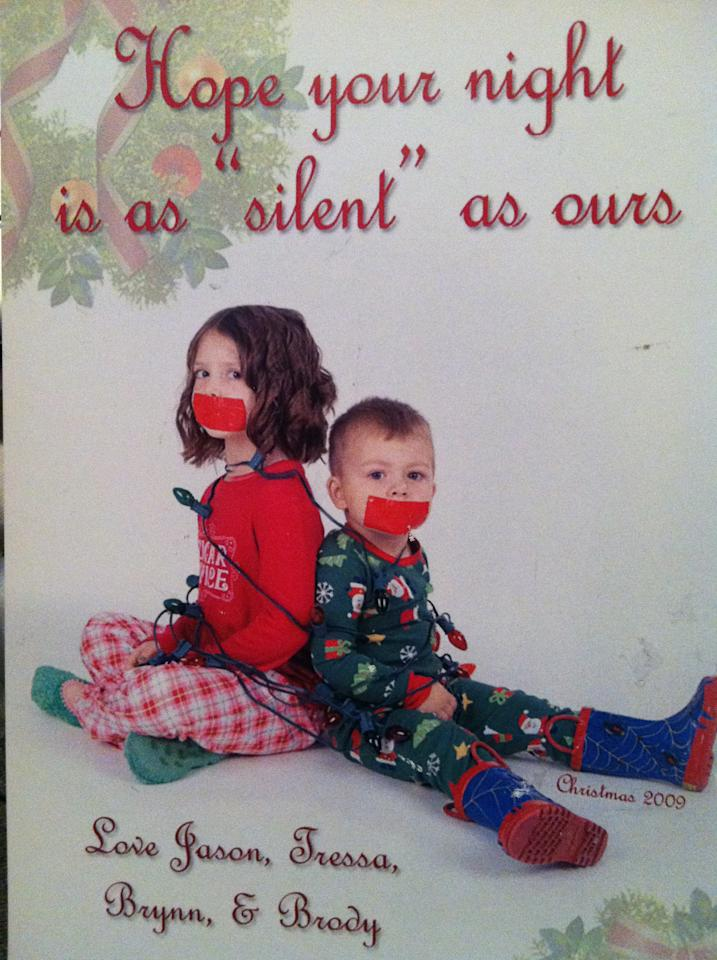 "Tressa Everett from Palm City, Florida sent in this witty take on ""Silent Night."""