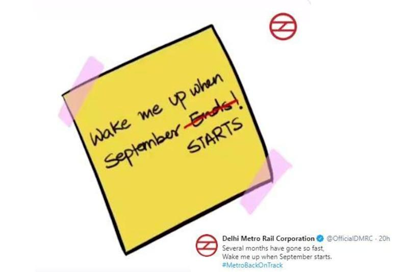 'Wake Me Up When September Begins': Delhi Metro Announces Comeback With a Swag