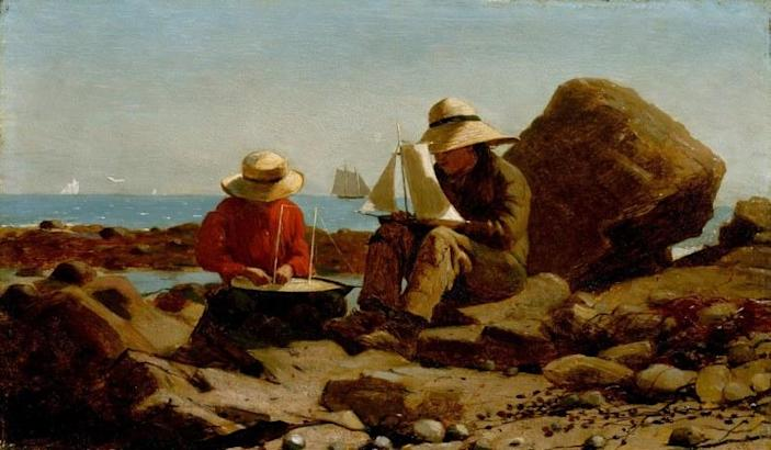 <i>The Boat Builders</i>, 1873, by Winslow Homer. Oil on panel.