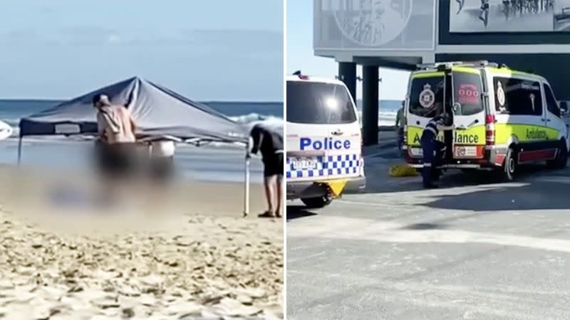 Seen here, Dr Mick Barry died after being caught in a powerful rip at Currumbin beach.