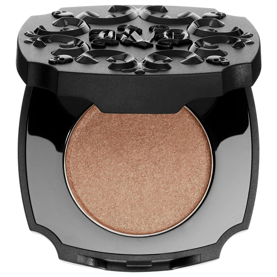 <p>Try out this top-rated <span>KVD Vegan Beauty Brow Struck Dimension Powder</span> ($8, originally $21) to add a semi-metallic sheen to your brow color. It happens to conveniently also be a two-in-one primer and powder formula so all you need to do is <span>sweep it on</span>, and know the shade will last.</p>