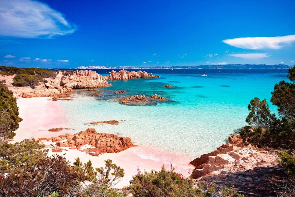 <p>Pink sand beaches are just. so. cute. And photogenic, of course. Just off the northern coast of Sardinia, Budelli is an Italian island is beach bliss epitomized.</p>