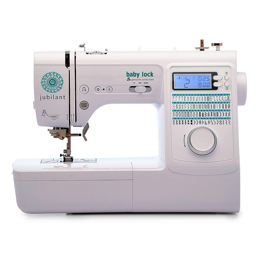 """<p><strong>Baby Lock</strong></p><p>sewingmachinesplus.com</p><p><strong>$499.00</strong></p><p><a href=""""https://go.redirectingat.com?id=74968X1596630&url=https%3A%2F%2Fwww.sewingmachinesplus.com%2Fbl-jubilant.php&sref=https%3A%2F%2Fwww.goodhousekeeping.com%2Fappliances%2Fg16%2Fsewing-machine-reviews%2F"""" rel=""""nofollow noopener"""" target=""""_blank"""" data-ylk=""""slk:Shop Now"""" class=""""link rapid-noclick-resp"""">Shop Now</a></p><p>If you plan on using your sewing machine mainly for fashion sewing, you want certain features: Free arm capabilities for sleeves and cuffs, presser feet specific for hems and zippers, and a variety of stitches and buttonholes. This Baby Lock model is ideal. Stitches can be easily selected from the bright LCD screen with 80 built-in stitches. With great ease of use features like <strong>adjustable speed, drop feed capabilities, and seven included feet</strong> for a variety of needs. Plus, this machine has a maximum sewing speed of 850 stitches per minute for the speedy seamstress.</p>"""