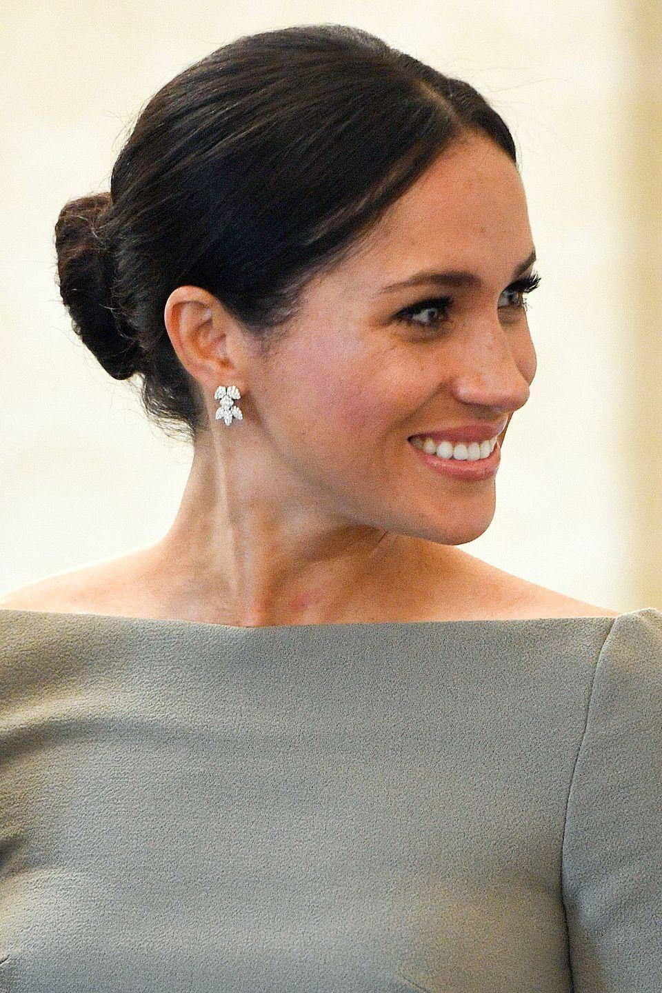 <p>Meghan Markle's go-to hairstyle, the messy bun, might have broken royal protocol but it is a perfectly imperfect way to sweep long hair off your shoulders. </p>