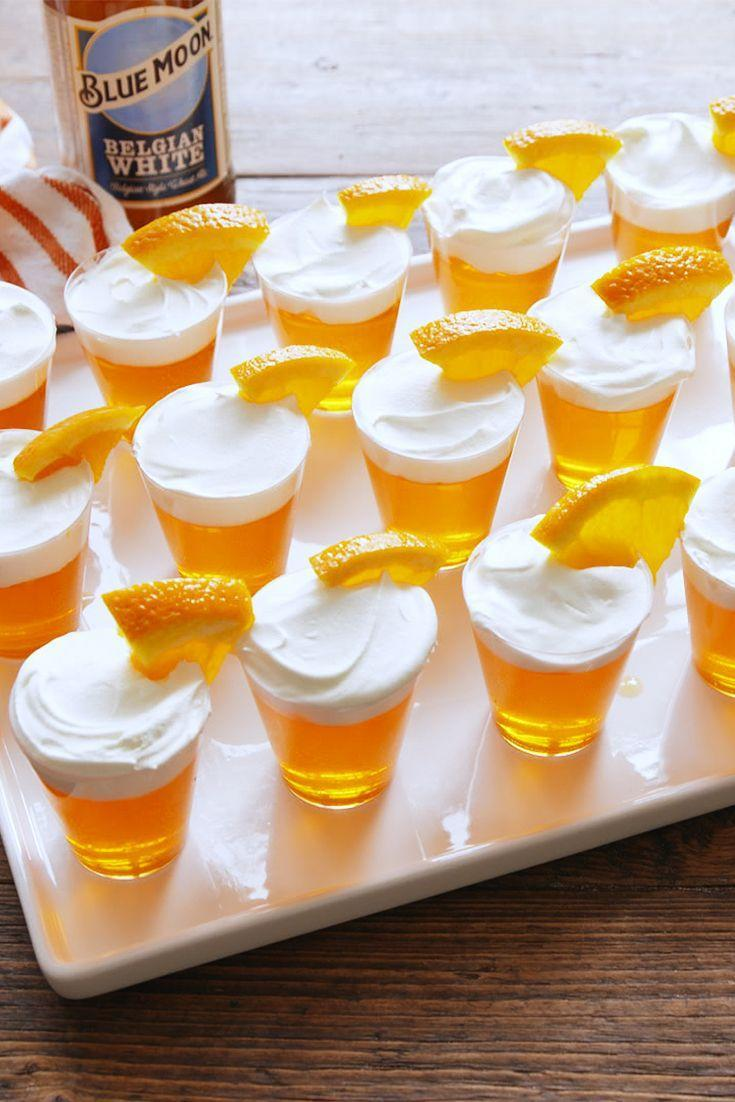 "<p>The beer lover's dream shot...with some vodka for good measure.</p><p>Get the recipe from <a href=""https://www.delish.com/cooking/recipe-ideas/recipes/a55183/blue-moon-jello-shots-recipe/"" rel=""nofollow noopener"" target=""_blank"" data-ylk=""slk:Delish"" class=""link rapid-noclick-resp"">Delish</a>. </p>"