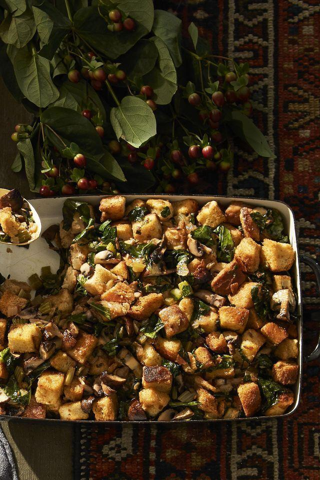 """<p>Why do we all consider stuffing to be exclusively a Thanksgiving thing? Let's go ahead and change that.</p><p><em><a href=""""https://www.goodhousekeeping.com/food-recipes/a41102/caramelized-onion-and-rye-bread-stuffing-recipe/"""" rel=""""nofollow noopener"""" target=""""_blank"""" data-ylk=""""slk:Get the recipe for Caramelized Onion & Rye Bread Stuffing »"""" class=""""link rapid-noclick-resp"""">Get the recipe for Caramelized Onion & Rye Bread Stuffing »</a></em></p><p><strong>RELATED: </strong><a href=""""https://www.goodhousekeeping.com/holidays/thanksgiving-ideas/g1355/turkey-stuffing-recipes/"""" rel=""""nofollow noopener"""" target=""""_blank"""" data-ylk=""""slk:35 Best Turkey Stuffing Recipes for Your Holiday Table"""" class=""""link rapid-noclick-resp"""">35 Best Turkey Stuffing Recipes for Your Holiday Table</a><br></p>"""