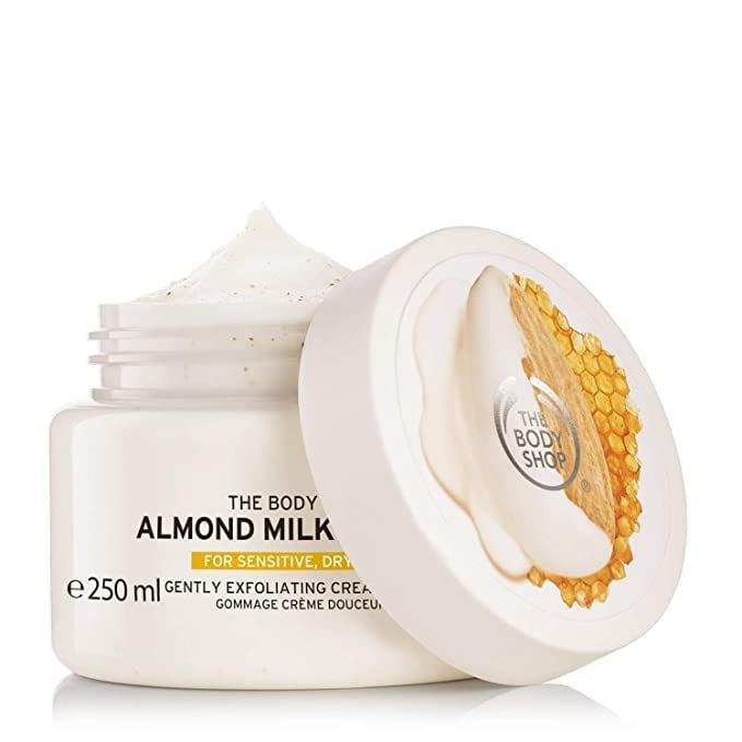 <p><span>The Body Shop Almond Milk &amp; Honey Body Scrub Exfoliator</span> ($17, originally $24)</p>