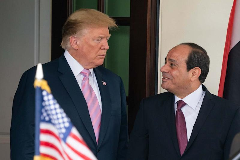 Donald Trump welcomes Egyptian President Abdel Fattah el-Sisi to the White House for a bilateral meeting in Washington, DC: EPA