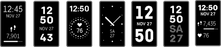 One advantage of a bigger screen: a choice of watch faces.