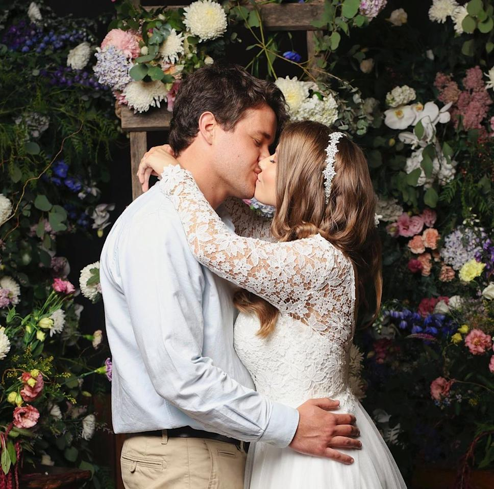 """<p>Despite the """"difficult decision"""" not to have guests at their wedding amid the coronavirus pandemic, the couple <a href=""""https://people.com/tv/bindi-irwin-marries-chandler-powell/"""">went ahead with their nuptials</a> at the Australia Zoo on March 25.</p> <p>""""We held a small ceremony and I married my best friend,"""" the Animal Planet star announced on Instagram. """"There are no words to describe the amount of love and light in my heart right now. We've planned this beautiful day for nearly a year and had to change everything, as we didn't have guests at our wedding.""""</p> <p>The couple, who got engaged on Bindi's 21st birthday last July after six years of dating, shared that they are focusing on the bright side of things, noting, """"We wish all of our friends and family could have been there with us, however it's lovely that we will be able to share photos and videos."""" Bindi continued, """"Right now we're encouraging the world to hold onto hope and love, which will carry us forward during this profound time in history.""""</p>"""