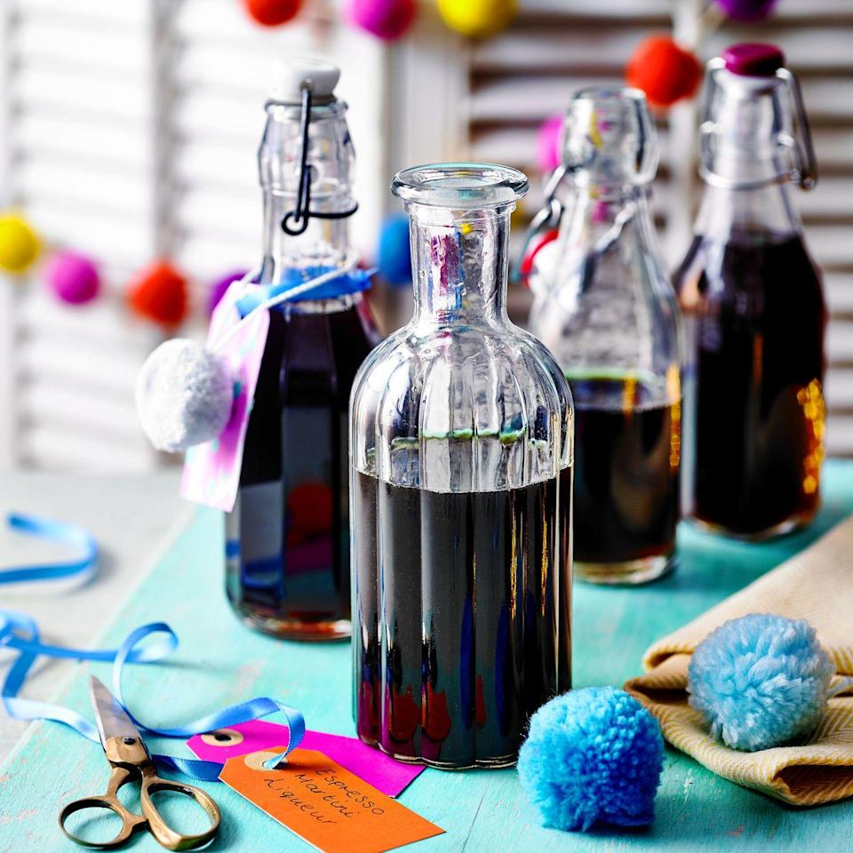"""<p>Try drizzling over your favourite ice cream, stir a little into hot chocolate or simply serve over ice.</p><p><strong>Recipe: <a href=""""https://www.goodhousekeeping.com/uk/christmas/christmas-recipes/a34770917/espresso-martini-liqueur/"""" rel=""""nofollow noopener"""" target=""""_blank"""" data-ylk=""""slk:Espresso Martini Liqueur"""" class=""""link rapid-noclick-resp"""">Espresso Martini Liqueur</a></strong></p>"""