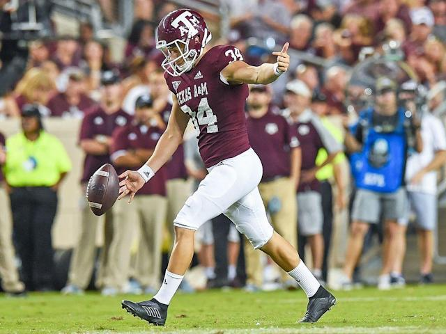 Texas A&M punter Braden Mann.
