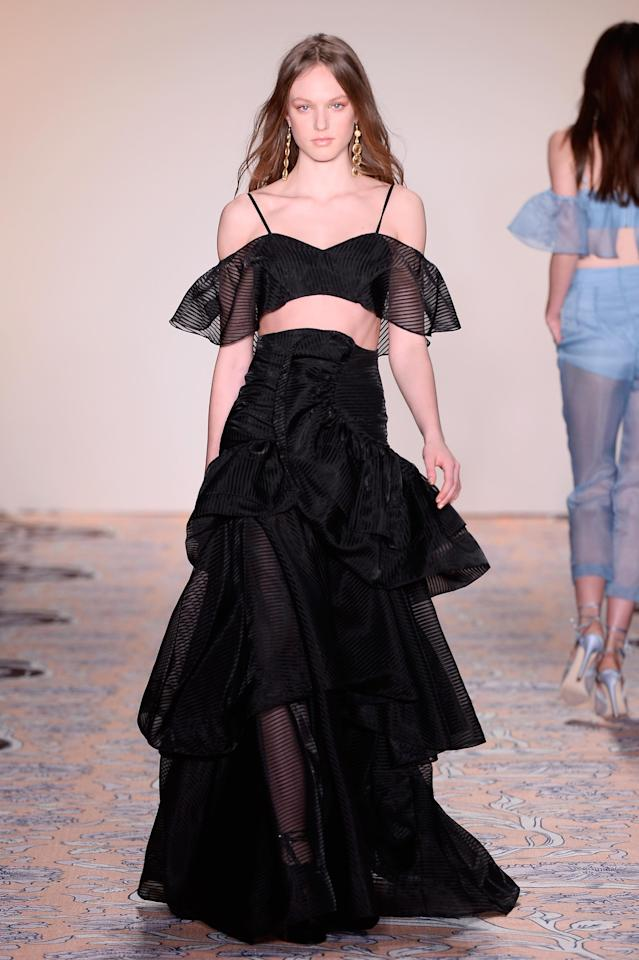 <p>Aussie party-frock favourite alice McCALL has showcased her designs on schedule at New York Fashion Week for the first time.</p>