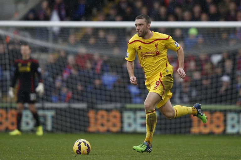 Liverpool's Rickie Lambert during the Premier League match against Crystal Palace at Selhurst Park on November 23, 2014 (AFP Photo/Adrian Dennis)