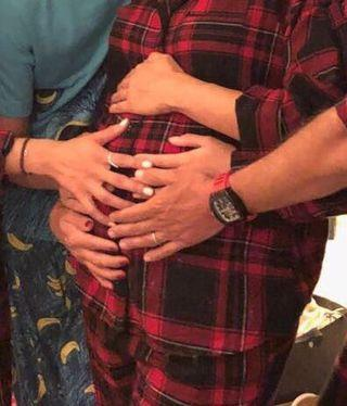 """<p>The Desperate Houswives star announced her first pregnancy with this hands-on snap.</p><p><a href=""""https://www.instagram.com/p/BdagBNEgCAQ/?taken-by=evalongoria"""" rel=""""nofollow noopener"""" target=""""_blank"""" data-ylk=""""slk:See the original post on Instagram"""" class=""""link rapid-noclick-resp"""">See the original post on Instagram</a></p>"""