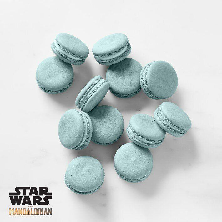 """Earlier in the second season of """"The Mandalorian,"""" Baby Yoda couldn't help but covet these blue macarons from the kid sitting next to him. So, of course, he had to steal them. Now, kids can try them out themselves. Thesealmond macarons have a vanilla filling. <a href=""""https://fave.co/3fR4yW0"""" target=""""_blank"""" rel=""""noopener noreferrer"""">Find the pack for $50 at Williams-Sonoma</a>."""