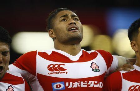 Britain Rugby Union - Wales v Japan - Principality Stadium, Cardiff, Wales - 19/11/16 Japan's Amanaki Mafi Action Images via Reuters / Peter Cziborra