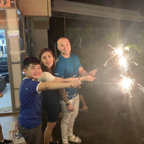 Polo and Paulyn with Tyler, who is Paulyn's son from a previous relationship