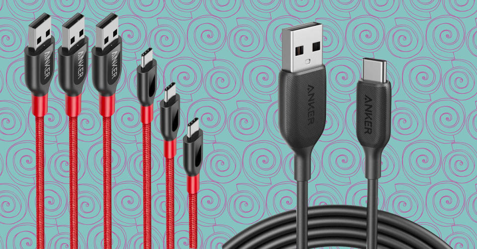 Anker Powerline+ USB-C to USB-A Fast-Charging Cables (Photo: Amazon)