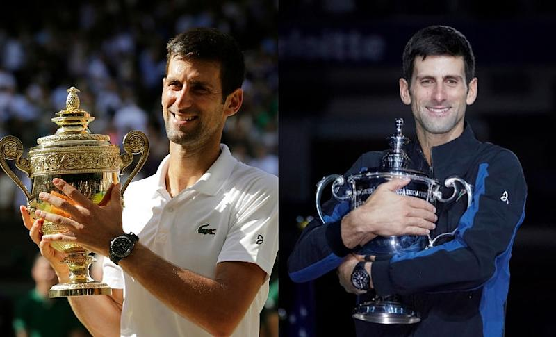 Novak Djokovic cpatured the Wimbledon and US Open titles as he bounced back from injury. Agencies