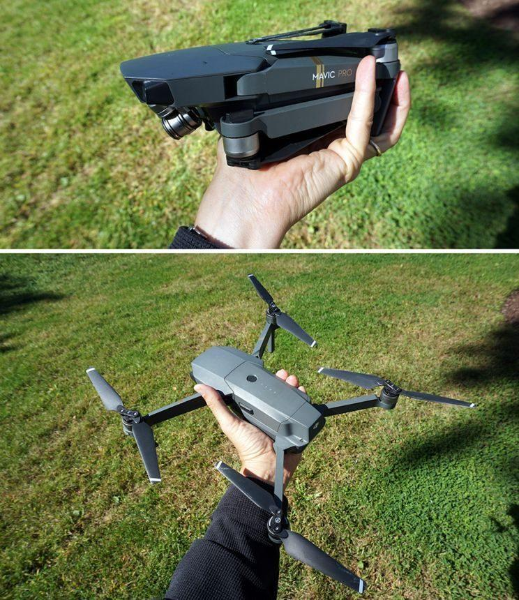 The DJI Mavic Pro is a tiny folding drone with amazing features.