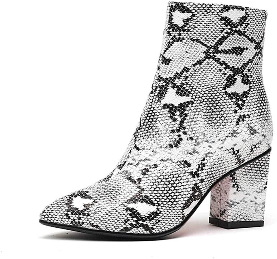 <p>These <span>Wetkiss Snake Ankle Boots </span> ($44) are a great deal. Plus, they capitalize on snake print, one of our favorite trends.</p>