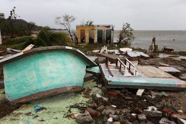 <p>Damaged buildings are seen in Punta Alegre, northern coast of Ciego de Avila province of Cuba after Hurricane Irma passed through the area on Sept. 11, 2017. (Photo: Yander Zamora/Anadolu Agency/Getty Images) </p>