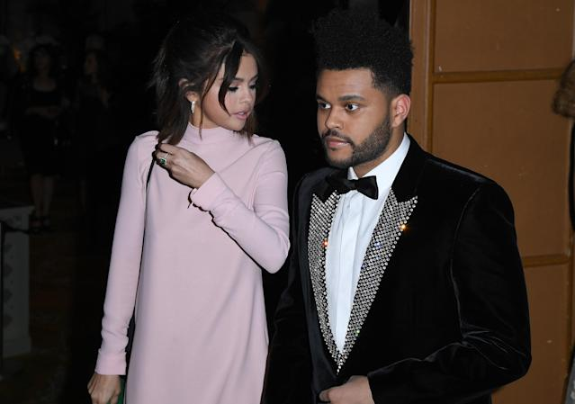 The Weeknd and Selena Gomez (Photo: Angela Weiss/AFP/Getty Images)