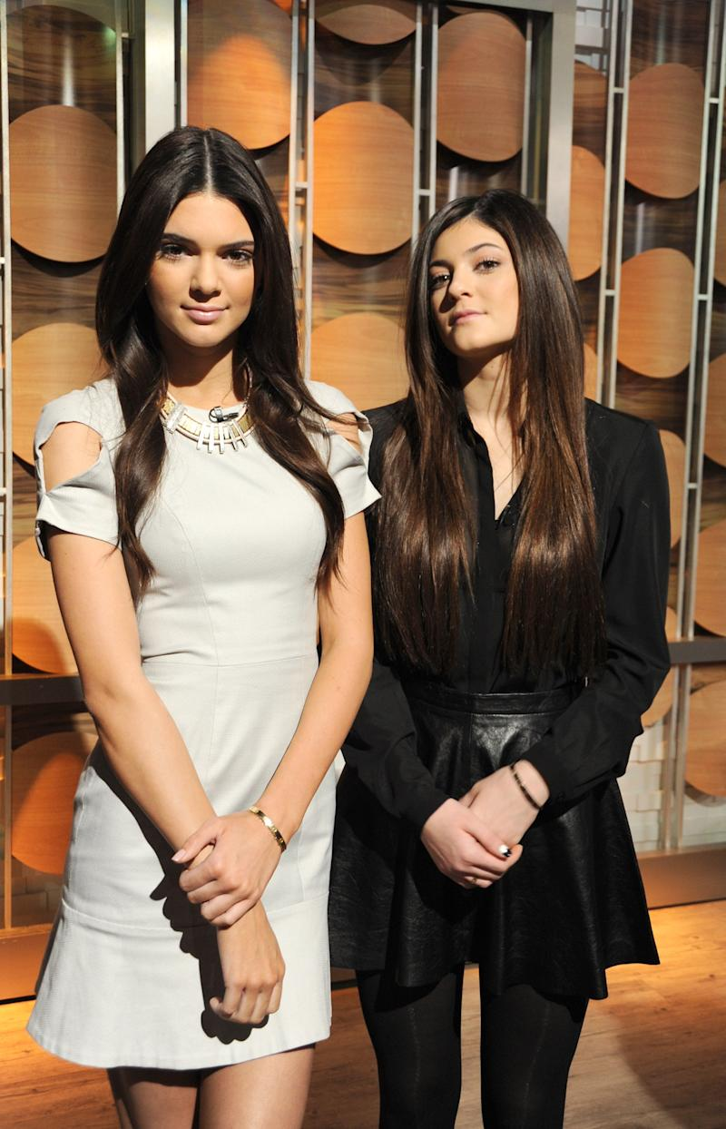 Kendall and Kylie Jenner, honing their fashion consultant chops, go on Good Morning America to discuss spring trends, February 2013.