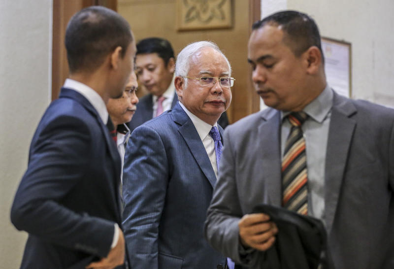 Former prime minister Datuk Seri Najib Razak is pictured at the Kuala Lumpur High Court July 15, 2019. — Picture by Firdaus Latif